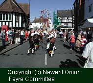 (c) Alec Scaresbrook, 1999. Newent Onion Fayre festivities, Glos, UK, 1999